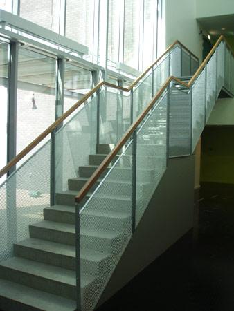 Rekkverk trapp ute stål
