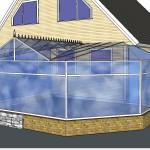 Uvanlig taket design med pynt